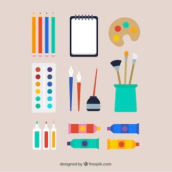 Materiales de un artista
