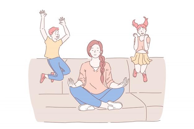 Maternidad, concepto de equilibrio psicológico