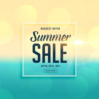 Mayor venta de verano banner de playa