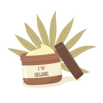 Me encanta la ilustración de cosméticos orgánicos.