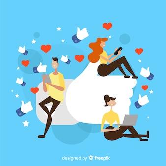 Me gusta facebook. adolescentes en redes sociales