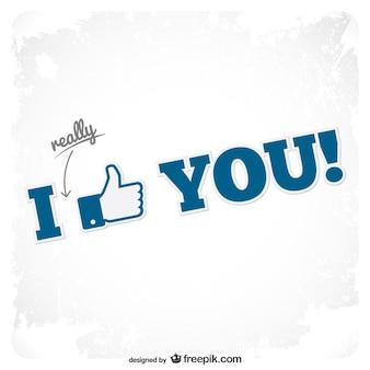 Me gustas con icono de facebook