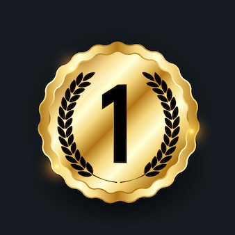 Medalla de oro. icono primer lugar.