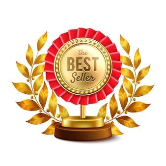 Medalla de oro del mejor vendedor