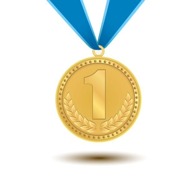 Medalla de oro por el primer lugar.
