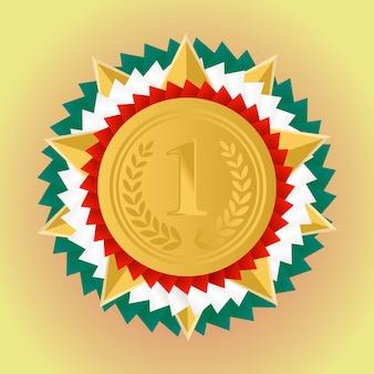 Medalla de oro por el primer puesto.
