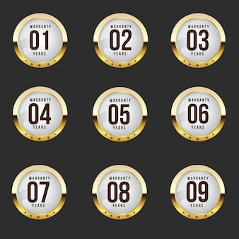 Medalla retro de oro y negro vintage