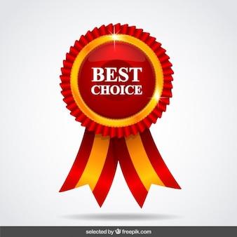 Medalla roja de la mejor elección