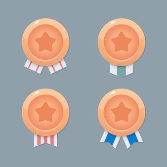 Medallas para juegos móviles. diseño de juego de interfaz de usuario