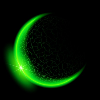 Media luna verde.