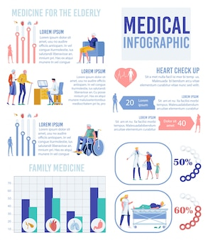 Medical infographic banner, family healthcare.