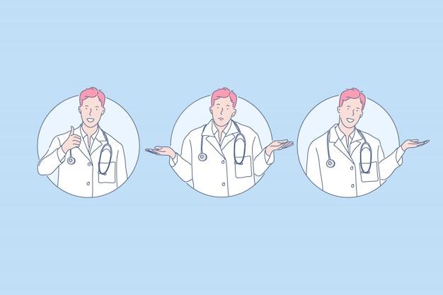 Medicina, diagnóstico, concepto de recomendación médica