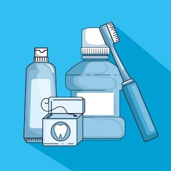 Medicina de higiene dental para el tratamiento de los dientes.