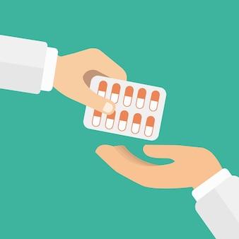 Medicina pastillas en una ampolla
