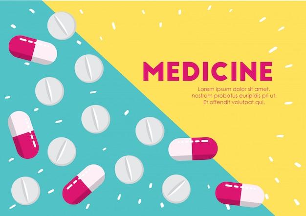 Medicina pastillas salud ilustración vectorial