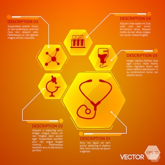 Medicina y salud naranja