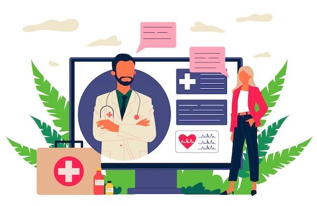 Médico consultor de pacientes en línea
