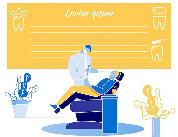 Médico dentista formulario informe vacío diseño plano