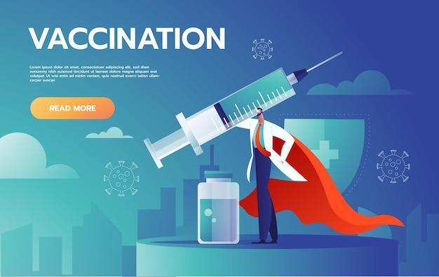 El médico enmascarado está luchando contra la infección por coronavirus.