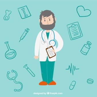 Médico ilustración