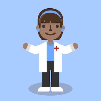 Médico plano femenino