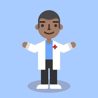 Médico plano macho