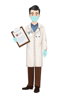 Médico trabajando durante brote de coronavirus