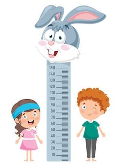 Medida de altura para niños pequeños
