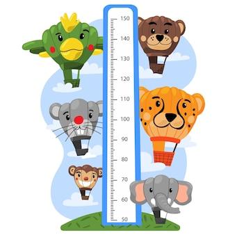 Medidor de altura de dibujos animados para niños