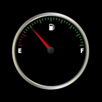 Medidor de combustible vacío
