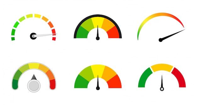 Medidores de satisfacción conjunto de escalas