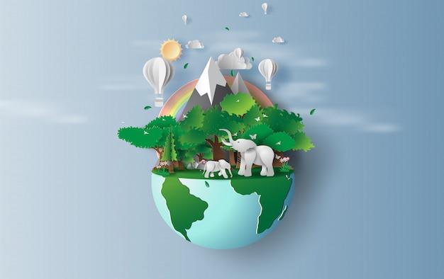 Medio ambiente mundial y día de la tierra