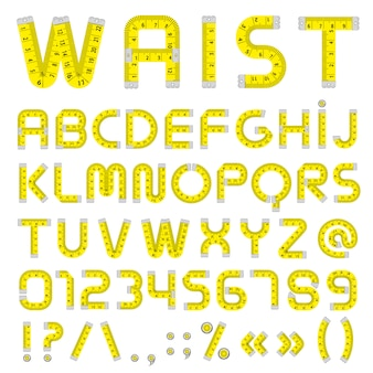 Medir cinta alfabeto