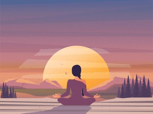Meditación matutina por la naturaleza.