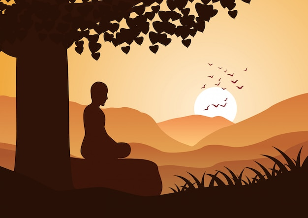 Meditación monje
