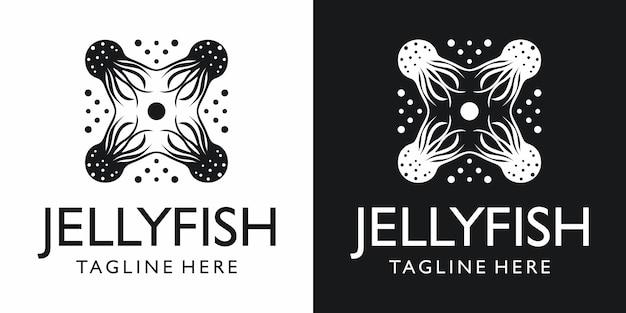 Medusa simple diseño de logotipo minimalista