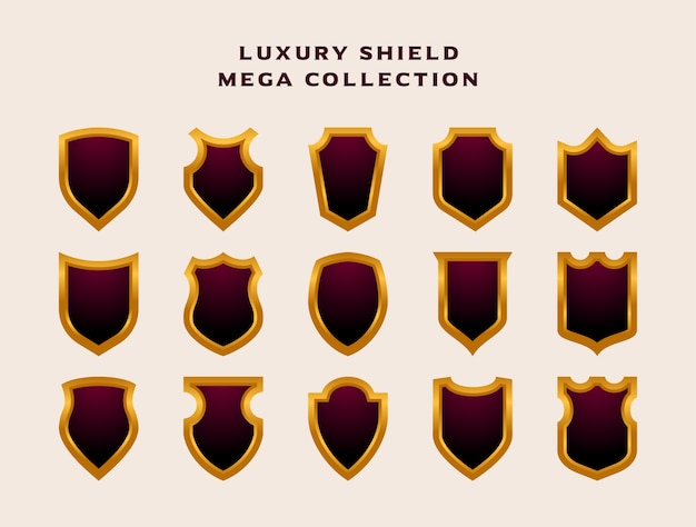 Mega colección conjunto de insignia de emblema de escudo de lujo