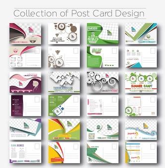 Mega colección de diseño de postales para el paquete de invitación de apertura