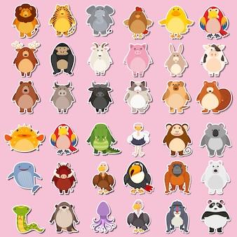 Mega pack de pegatinas de animales