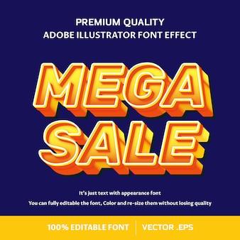 Mega venta efecto de fuente editable 3d