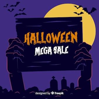 Mega venta de halloween dibujada a mano