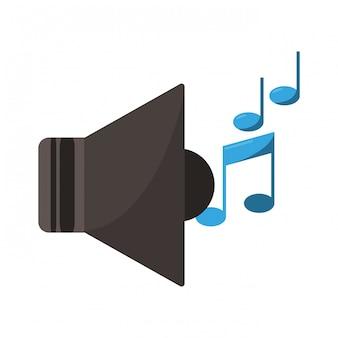 Megáfono de música con notas