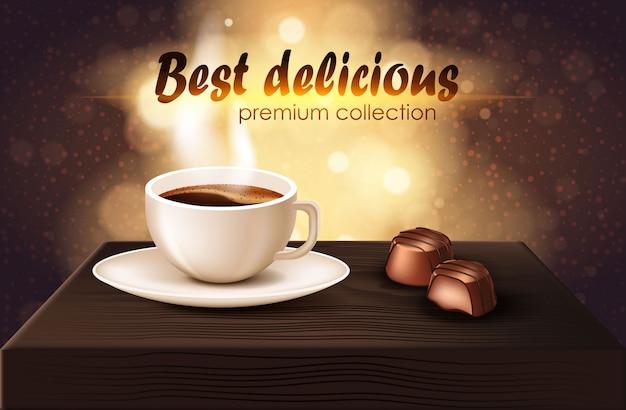 Mejor colección premium delicioso realista banner