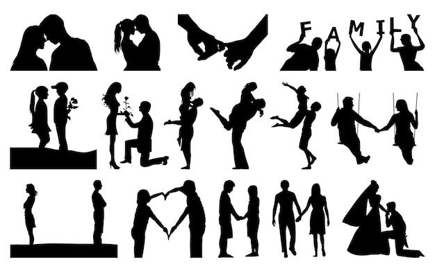 La mejor colección de siluetas de amor.