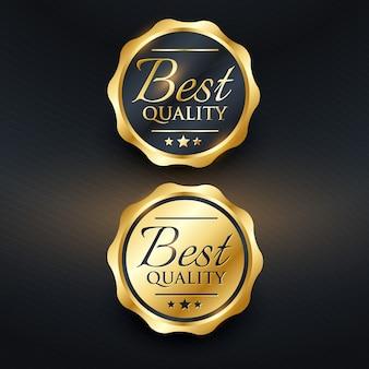 Mejor diseño de etiqueta dorada de calidad