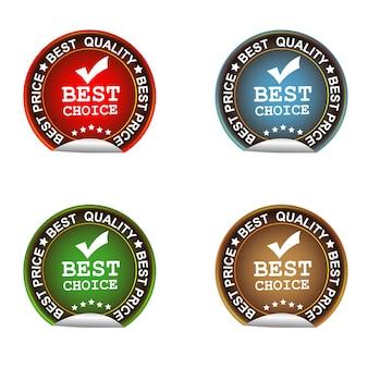 El mejor diseño de vector de etiqueta de elección