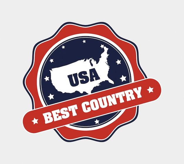 Mejor insignia de país de estados unidos