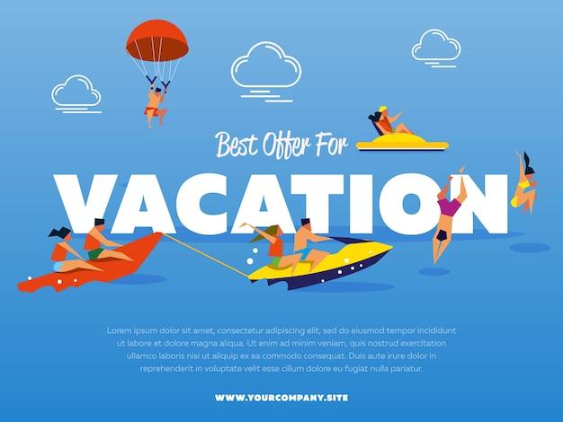 La mejor oferta para plantilla de vacaciones