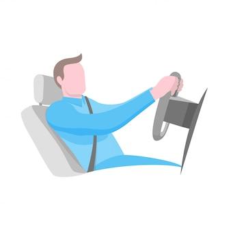 La mejor posición para conducir un coche.