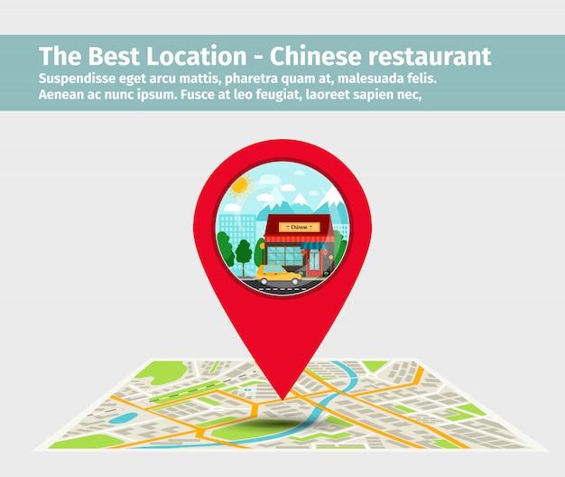 La mejor ubicacion del restaurante chino.